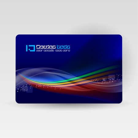 synergie: Kreditkarte. Abstrakt vektor Wave auf Marine Hintergrund