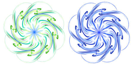 Vortex, blue and green vector illustration, EPS file included. Stock Vector - 9371970