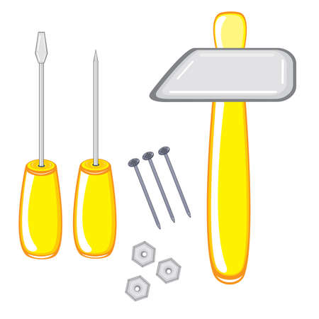 Repair Tools. Illustration on white background Stock Vector - 9371963