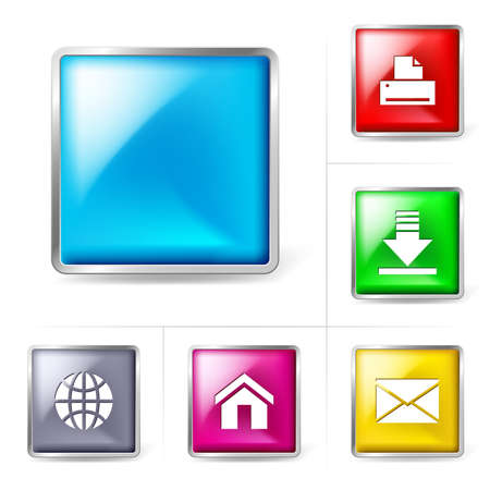 Abstract computer internet icons Vector