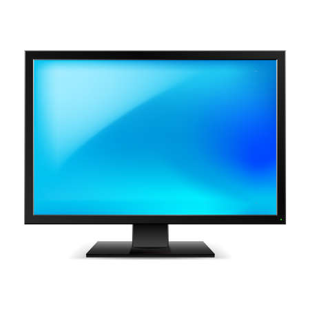 lcd display: Lcd tv monitor. Illustration on white background Illustration