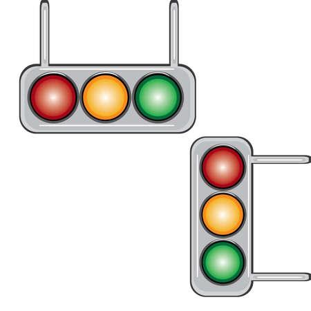 Traffic lights. Illustration on white background for design Stock Vector - 9413761