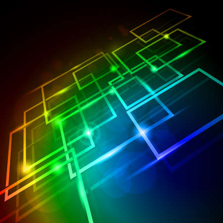 grid black background: Internet concept, communication, technology-style background. Abstract illustration for design
