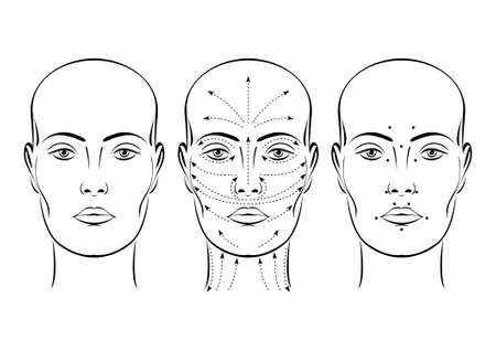 female mask: Face. Illustration on white background for design Illustration