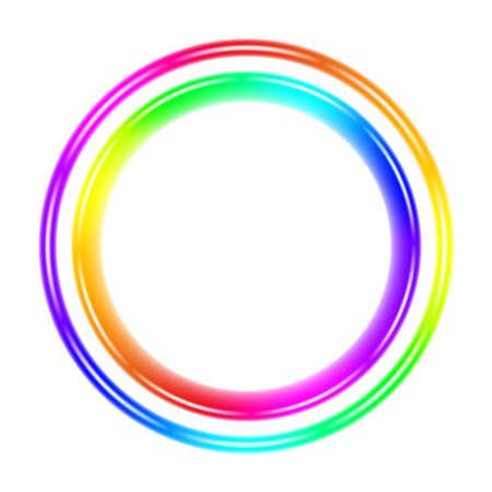 circulos concentricos: C�rculo espectral multicolor. Ilustraci�n sobre fondo blanco
