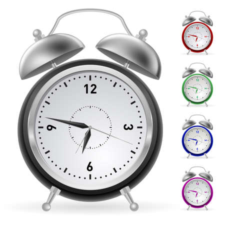 Realistic colorful clock. Illustration for design on white background  Vector
