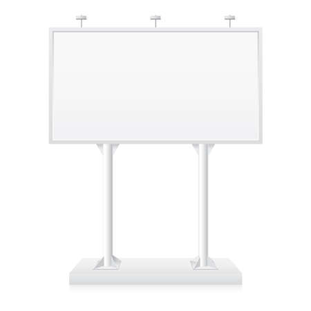 Billboard with place for your text. Illustration on white background