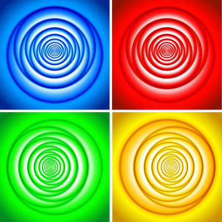 Abstract vortex set, illustration, EPS file included. Stock Vector - 9639340