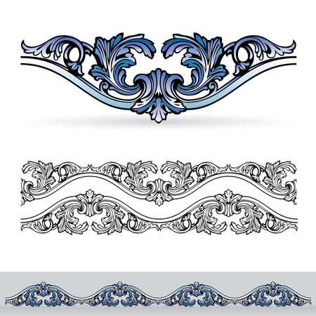 cijfer vier: Flora design number four. Nice design elements for your best creative ideas.