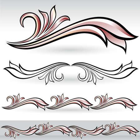 Flora design number nine. Nice design elements for your best creative ideas. Stock Vector - 9718370