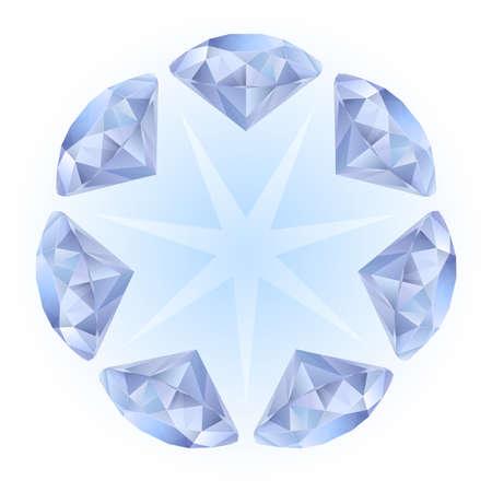 Realistic diamonds pattern. Illustration for design on white background Stock Vector - 9736738