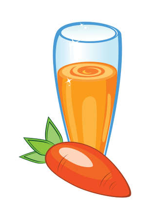 A delicious carrot juice. Illustration on white background Stock Vector - 9760076