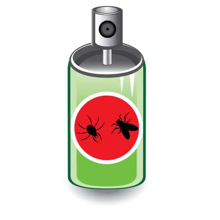 Insektenspray. Abbildung auf weißem Hintergrund