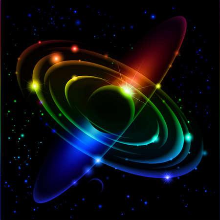 celestial: Abstract Solar system.