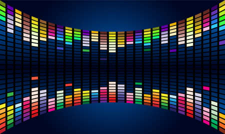 Colorful Graphic Equalizer Display Stock Vector - 9892316