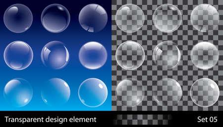 soap bubbles: Set of transparent bubbles.