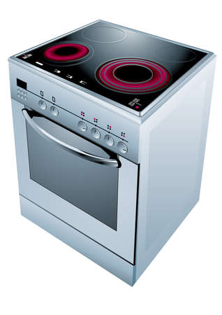 stainless steel kitchen: Electric cooker oven.