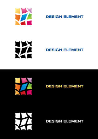 Logo templates. Color tile. Black and white backgrounds. Vector