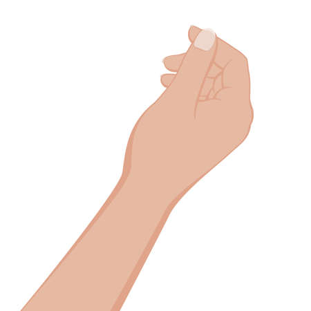 Hand give or take something on white background. Vector