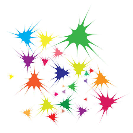 illustration of abstract color stars background  Stock Vector - 9892469
