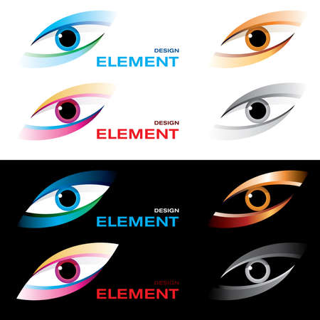 illustration of logo striking eye. Vector