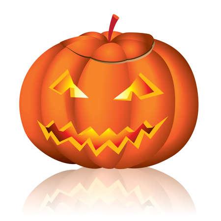 Jack-o-lantern halloween illustration on white background Vector