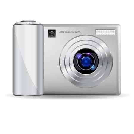 Realistic digital camera.  Illustration on white background Stock Vector - 9892482