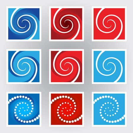 Swirl symbols set. Illustration on gray background Stock Vector - 9892503