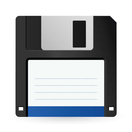 Magnetic floppy disc icon for computer data storage  Vector