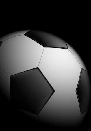 Realistic soccer ball on black background Stock Vector - 10428969