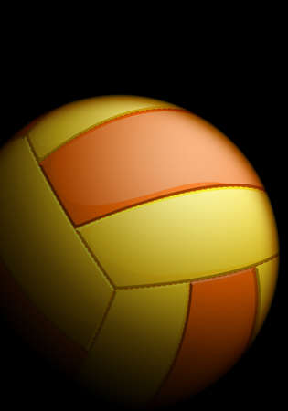 Realistic volleyball on a black background Stock Vector - 10428973
