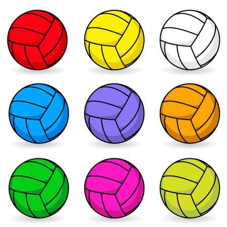 pelota de voleibol: Dibujos animados de voleibol. Ilustración sobre fondo blanco