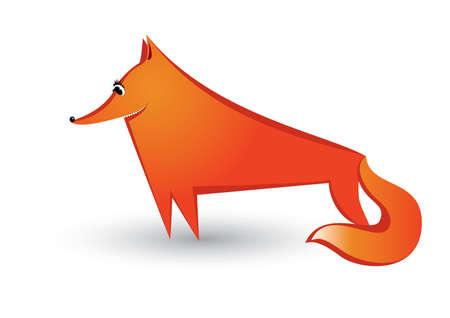 black fox: Red Fox. Illustration on white background for design