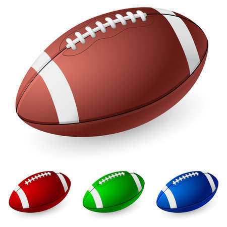 american football background: Realistic American football. Illustration on white background.  Illustration