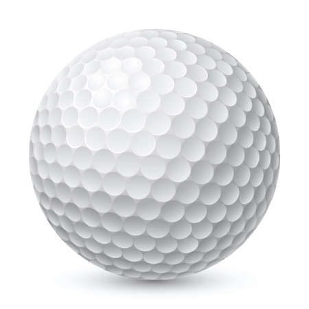 golf club: Golf Ball. Illustration on white background for design
