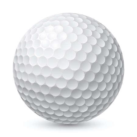 Golfball. Illustration auf weißem Hintergrund für Design