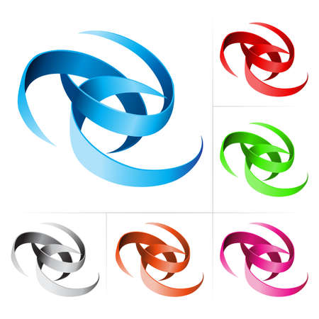 Ribbons Set. Illustration isolated on white background Stock Vector - 10694407