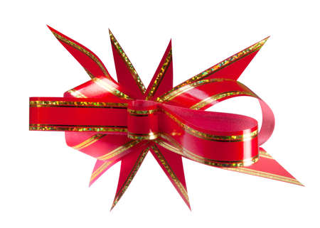 Red gift bow. Isolated on white background Stock Photo - 10694409