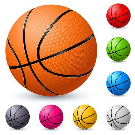 basketball team: Basketball. Illustration on white background for design.