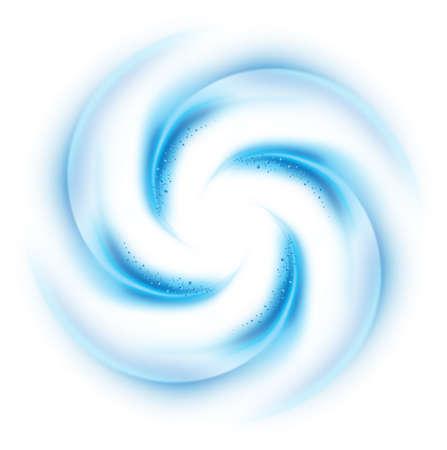 Blauwe vortex op een witte achtergrond voor ontwerp