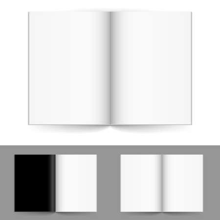 portadas de libros: La revista realista n�mero de serie de cuatro. Ilustraci�n sobre fondo blanco para el dise�o.