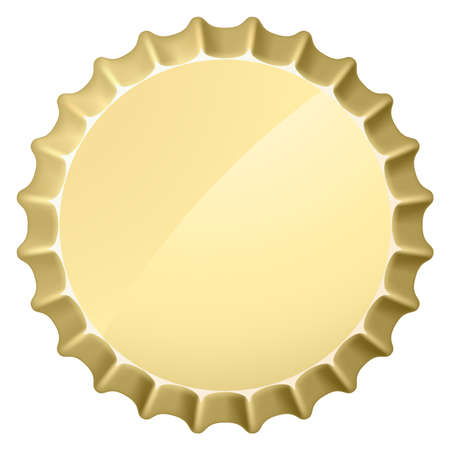 beer drinking: Bottle cap. Illustration on white background for design