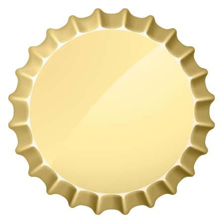 botellas de cerveza: El tap�n del bote. Ilustraci�n sobre fondo blanco para el dise�o Vectores
