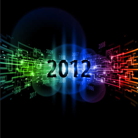 Internet concept twenty-twelve, communication, technology-style background on black. Stock Photo - 11351138