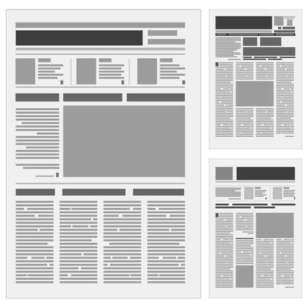 Establecer el número de un periódico. Ilustración sobre fondo blanco.