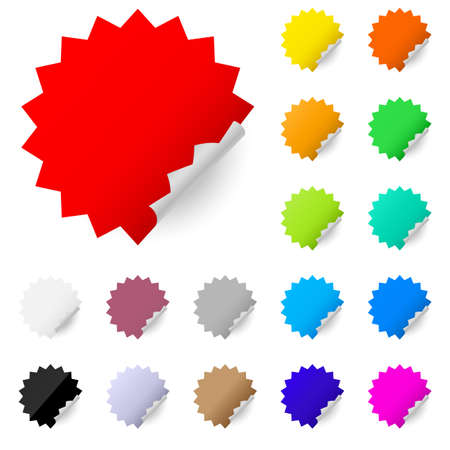 Abstract colorful labels. Illustration on white background Stock Illustration - 11350933