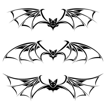 Bats illustration collection. Illustration on white background Vector