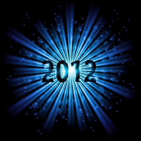 Blue abstract Happy New Year twenty twelve background Stock Vector - 11351178