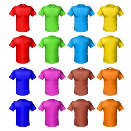 Bright colored shirts. Illustration on white background for design Vector