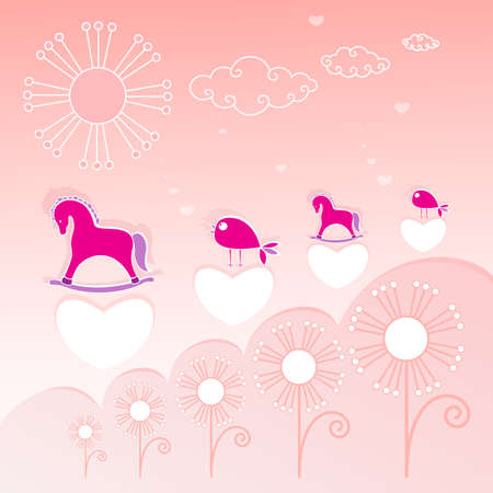 Abstract Nature background on pink for design Vector